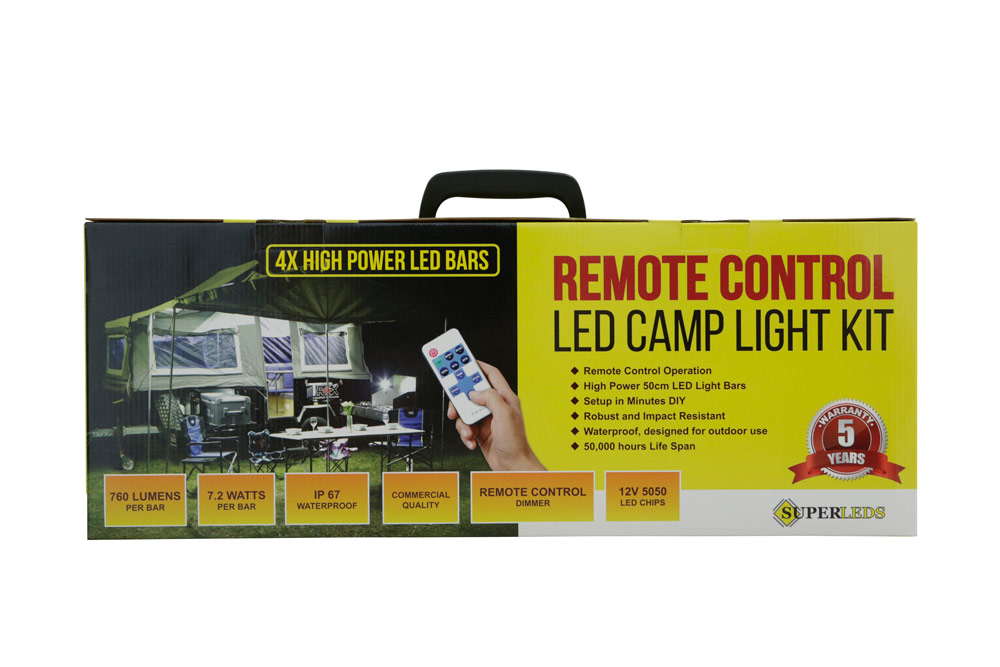 Remote control led camp light kit maclean outdoors online superleds lef camp light kitg mozeypictures Gallery